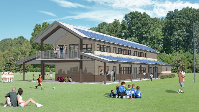Concorde Fire gets Grants to Green grant to construct its Pavilion / Classroom at Georgia Sports Park
