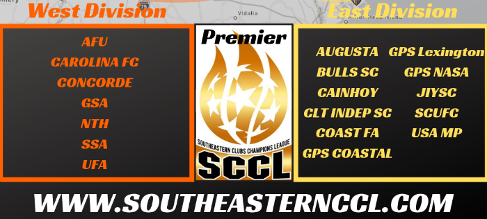 SCCL Premier East and West Divisions